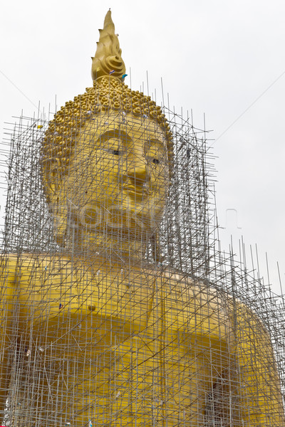 Stock photo: reconstruction of gold buddha