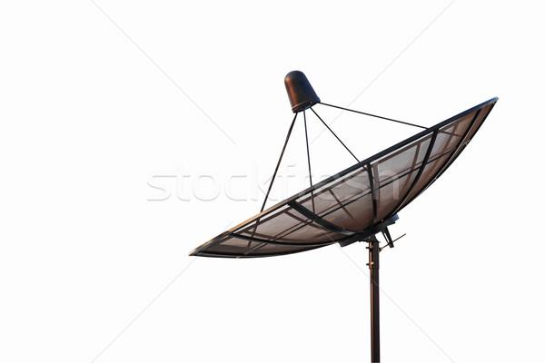 satellite dish antenna radar isolated on white background Stock photo © FrameAngel