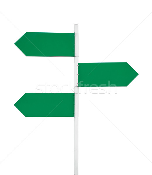 Stock photo: blank signs pointing