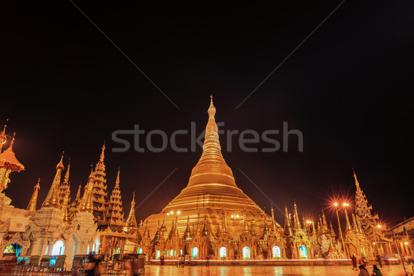 Shwedagon pagoda in Yangon, Myanmar Stock photo © FrameAngel