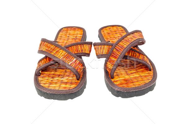 flip flop sandals beach shoes on white background Stock photo © FrameAngel