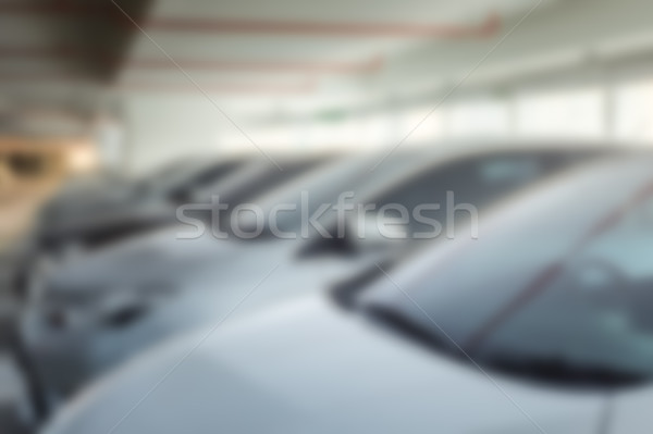 Abstract blur background of car parking, shallow depth of focus Stock photo © FrameAngel