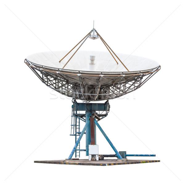 Antenne radar grand taille isolé Photo stock © FrameAngel