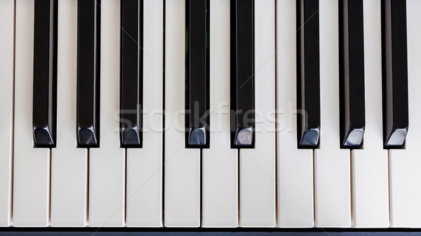 Piano Keyboard synthesizer closeup key top view Stock photo © FrameAngel