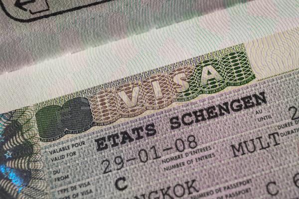 Paspoort stempel visum reizen Parijs Frankrijk Stockfoto © FrameAngel