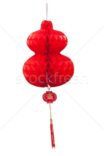Chinese paper cutting motif chinese lantern Stock photo © FrameAngel