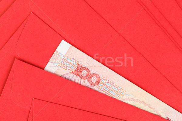 Stok fotoğraf: Çin · 100 · para · kırmızı · zarf