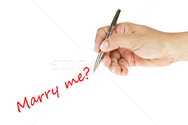 human hand writing 'marry me' word Stock photo © FrameAngel