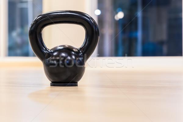 черный железной гири веса Сток-фото © FrameAngel