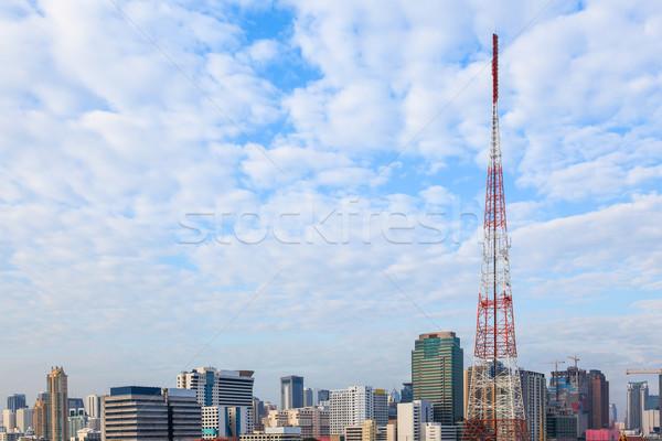 Molti nubi coprire cityscape business costruzione Foto d'archivio © FrameAngel