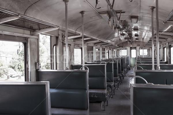 Dentro trem cadeira metrô tráfego conselho Foto stock © FrameAngel