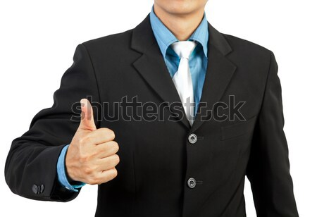 businessman giving you thumbs up on white background  Stock photo © FrameAngel