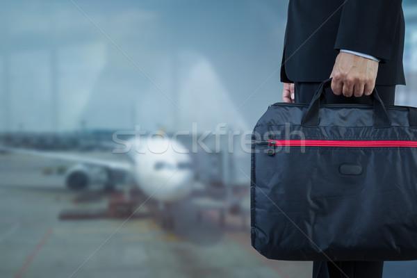 Işadamı evrak çantası iş gezisi seyahat soyut arka plan Stok fotoğraf © FrameAngel