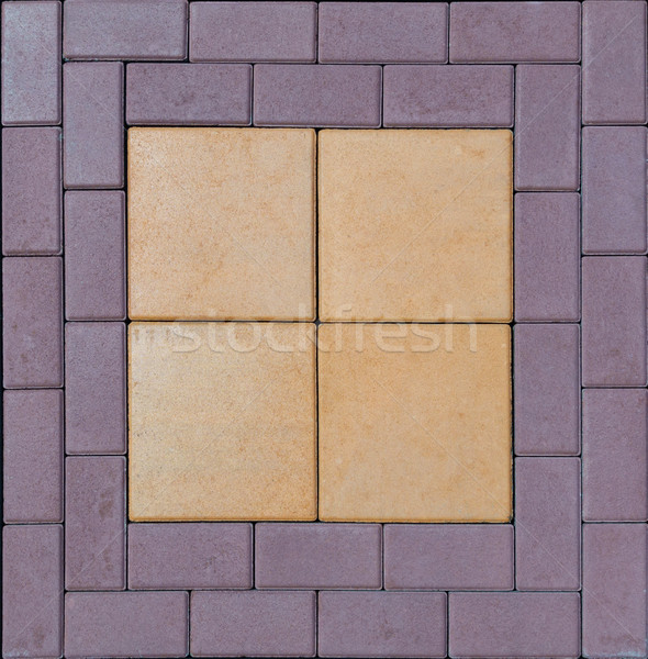Stock photo: tile  paving slabs and mosaic colored of small stones texture ab