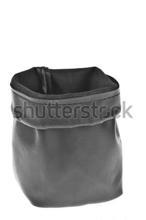 Bag, leather black pouch isolated on white background Stock photo © FrameAngel