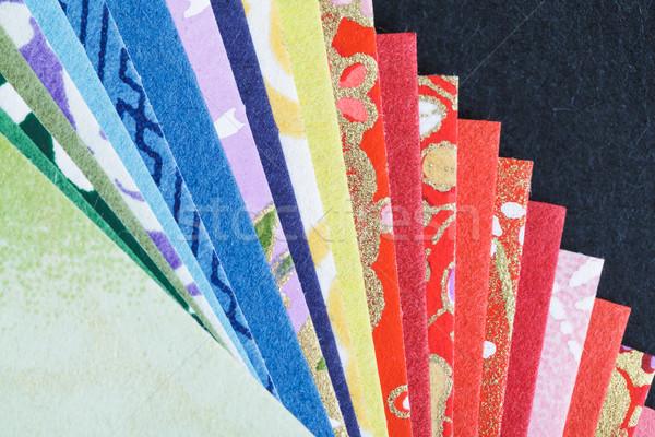 Abstract colorato origami carta pattern texture Foto d'archivio © FrameAngel