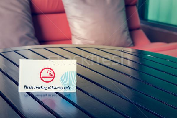 курение балкона знак таблице дым аэропорту Сток-фото © FrameAngel