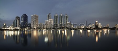 business buildings area and office, cityscape at twilight panora Stock photo © FrameAngel
