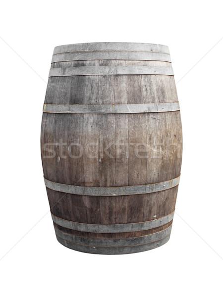 Wein Barrel Weißwein weiß Hintergrund Retro Stock foto © FrameAngel