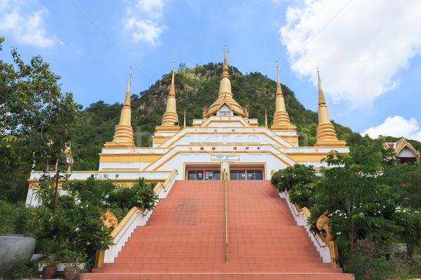 Temple names 'Wat Tham Phra That Khao Prang', Lopburi Thailand Stock photo © FrameAngel