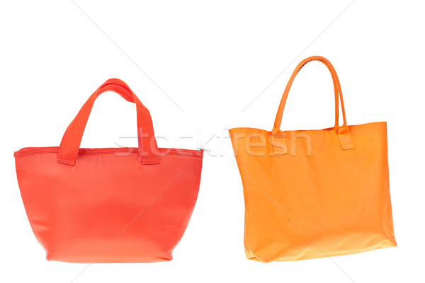 Stockfoto: Kleurrijk · oranje · Rood · katoen · zak · witte