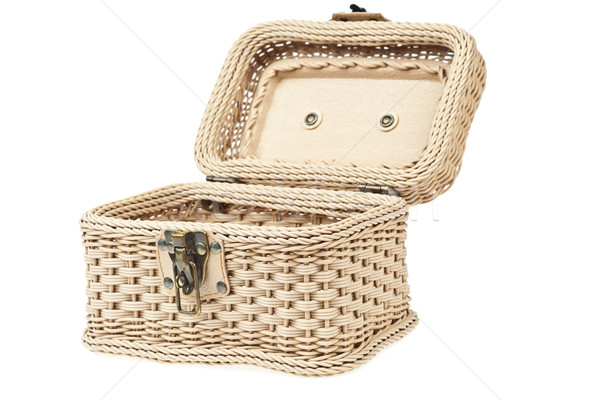 Basket, plastic wicker with protector Stock photo © FrameAngel