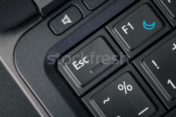 Computer keyboard - ESC and help button, close up Stock photo © FrameAngel