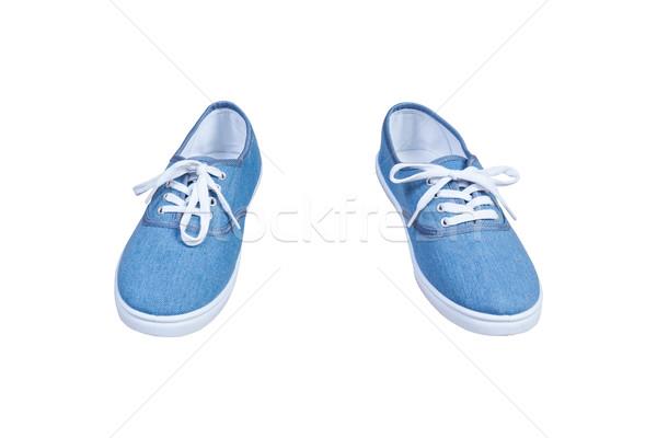 Paar Blauw kleur geïsoleerd mode Stockfoto © FrameAngel