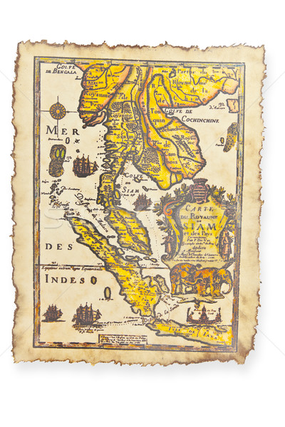 Antique map, Thailand Stock photo © FrameAngel