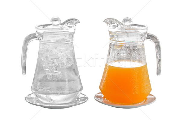 orange juice and water in pitcher on plate Stock photo © FrameAngel