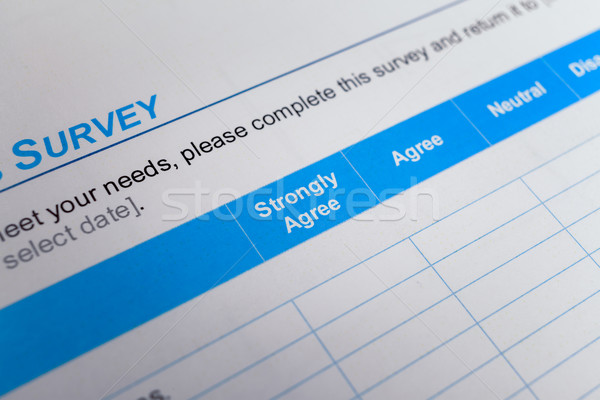 Customer satisfaction survey checkbox with rating, can use any b Stock photo © FrameAngel