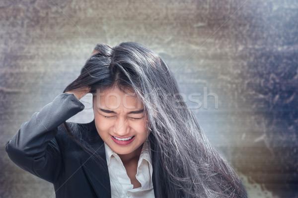 Asian zakenvrouw professionele is mislukt ontdaan baan Stockfoto © FrameAngel