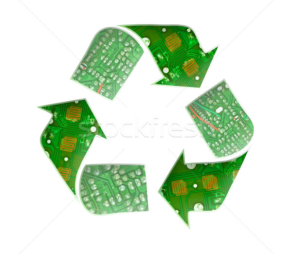 Recycle logo, Electronic waste concept Stock photo © FrameAngel