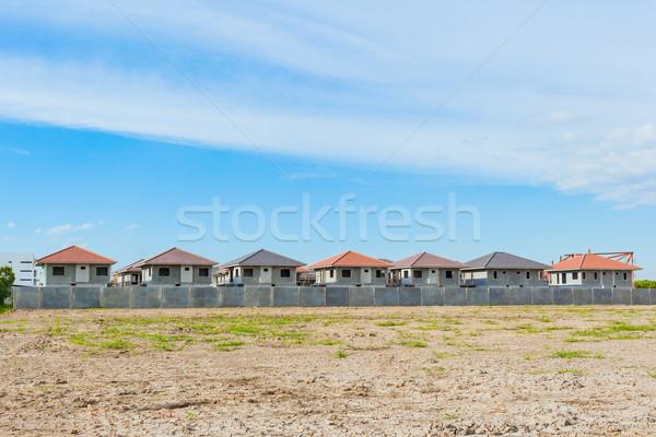 дома здании строительная площадка деревне прогресс ждет Сток-фото © FrameAngel