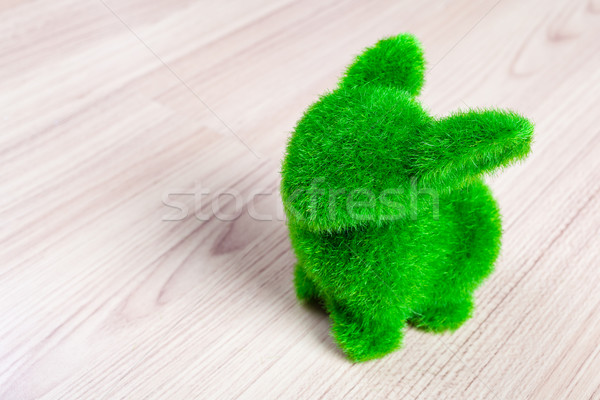 Weinig groene konijn kunstgras bloem Stockfoto © FrameAngel