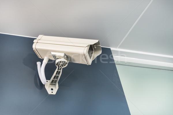 Cctv kamera güvenlik duvar güvenlik teknoloji Stok fotoğraf © FrameAngel