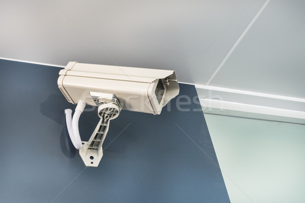 Cctv caméra sécurité mur sécurité technologie Photo stock © FrameAngel