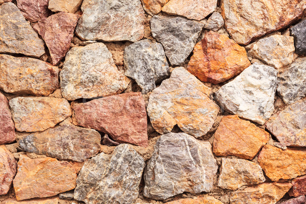 Rock stone wall Texture Background Stock photo © FrameAngel