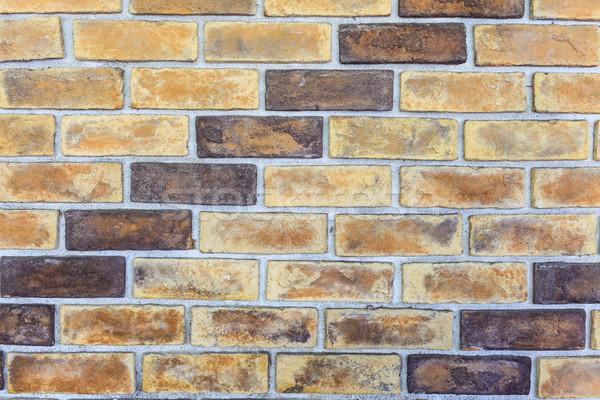 Parede de tijolos textura antigo vintage parede pintar Foto stock © FrameAngel