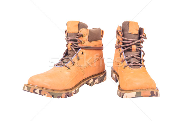 boots brown color on white background Stock photo © FrameAngel