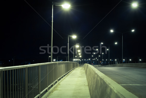 walkway and road at night, safety and security concept Stock photo © FrameAngel