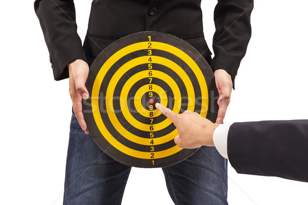 business target, hand aiming or pointing Stock photo © FrameAngel