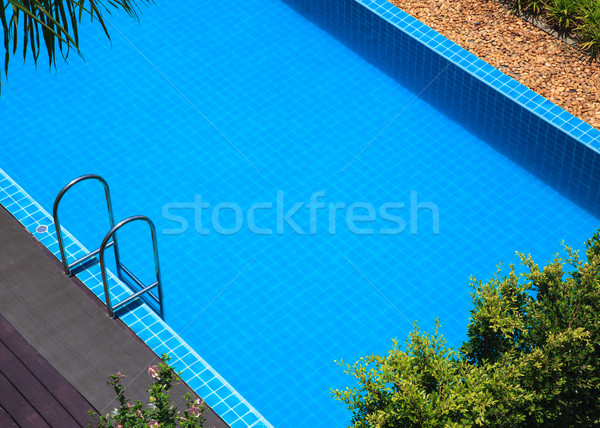 blue swimming pool summer vacation Stock photo © FrameAngel