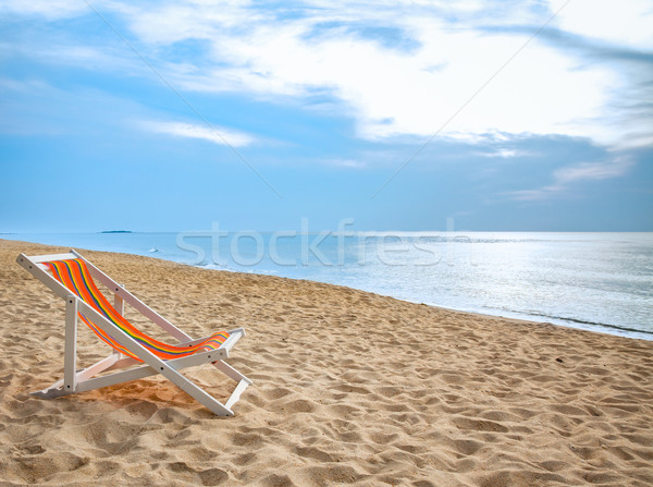 Tropicales sable blanc eau paysage mer Photo stock © FrameAngel