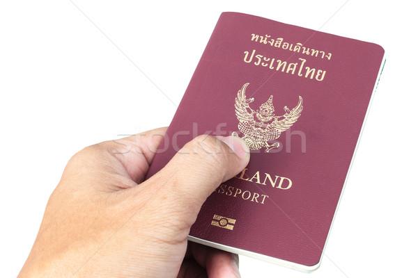Tailandia pasaporte mano blanco seguridad viaje Foto stock © FrameAngel