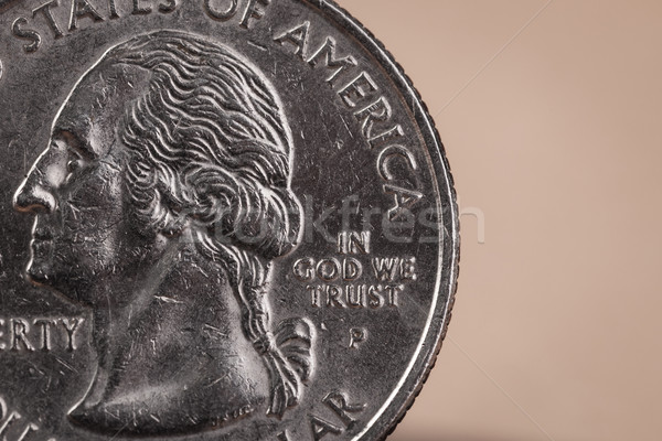 US American coin with wording 'in God we trust' Stock photo © FrameAngel