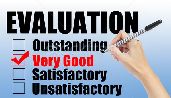 Evaluación forma mano comprobar buena papel Foto stock © FrameAngel