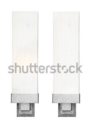 Old fashion lamp on wall isolated on and off Stock photo © FrameAngel