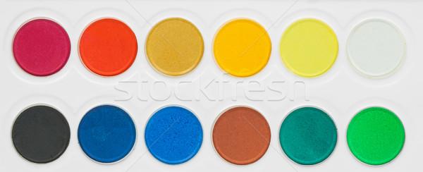 paint colors pallete  Stock photo © FrameAngel