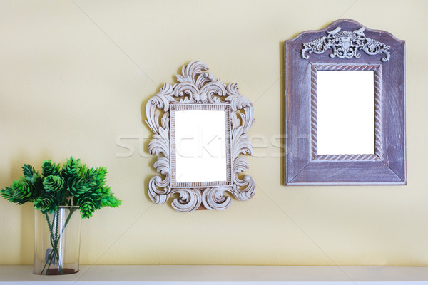 picture photo frame on wall Stock photo © FrameAngel